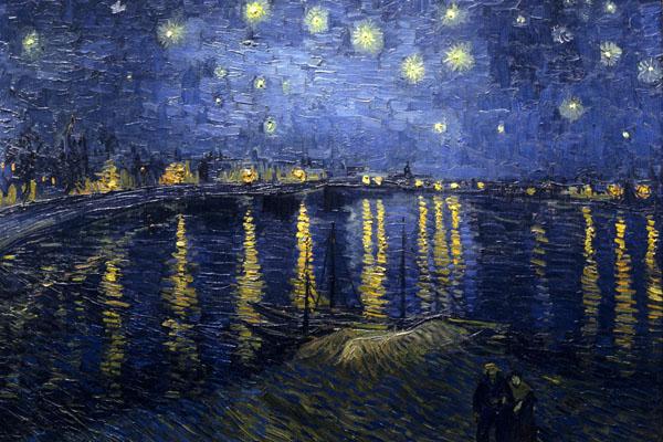 Noche estrellada sobre el ródano, Van Gogh